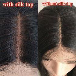 El cabello humano más natural de la base de seda 4*4 cierres de encaje