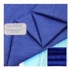 100 tessuti Yarn-Dyed della pianura/saia del cotone per il tessuto della maglietta/indumento/indumento dei vestiti