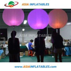 Esfera Mochila mayorista inflables Globos publicitarios caminar con LED