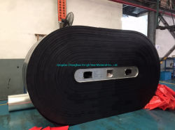 Excelente cinta transportadora de caucho de cable de acero con un buen envase y embalaje