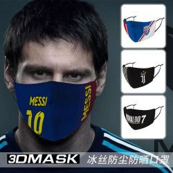 Une équipe de football UK France Espagne masque facial de logo
