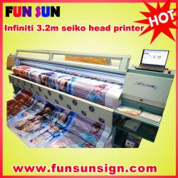 Marca Infiniti/Challenger 10ft Seiko solvente de grande cabeça impressora para impressão digital de Publicidade