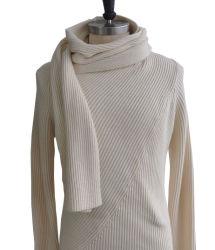 Breide de kasjmier Gemengde Trui van Vrouwen Lange Sweater met Sjaal