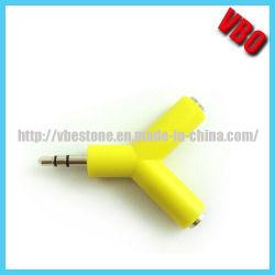 Двойной разъем для наушников 3,5 мм для наушников аудио адаптер/разветвителя (AD-128)