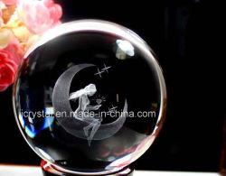 Petite Boule de cristal avec image laser interne
