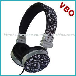 La cuffia dello studio del trasduttore auricolare della cuffia parte la cuffia stereo