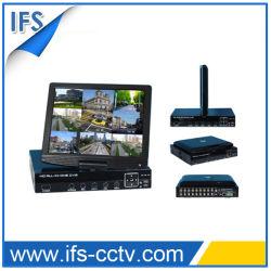 H. 264 Network Combo DVR Kit met LCD Support Mobile View (isr-LCD208BK)