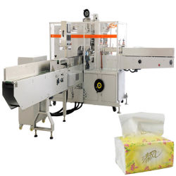 Pañuelo de envoltura de papel tejido facial de maquinaria de embalaje
