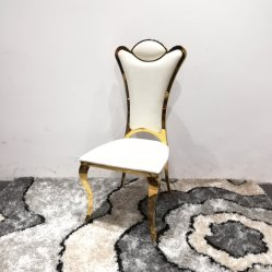 Location de salle à manger de luxe Golden Cross Retour Chaise de mariage
