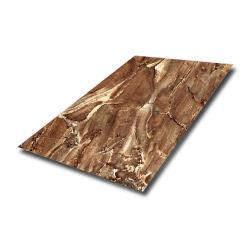 201 Modèle en bois stratifiés bobine de la plaque en acier inoxydable pour le Shopping Mall Décoration de la main courante