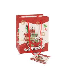 2019 новый дизайн пользовательских дешевые цены бумаги рождественские подарки сумки