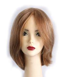 """12"""" de encaje peluca delantera Mono mejor Virgen Remy Cabello Color Piano#27/613 estilo Bob"""