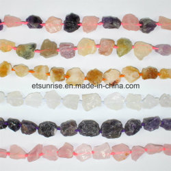 Fashion Gemstone Mix Couleur Cristal Perlé Rough Nugget Stone