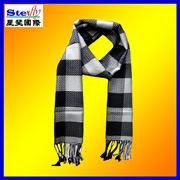 2013의 새로운 작풍 유행 Mens에 의하여 뜨개질을 하는 격자 무늬 재잘거림 스카프 머플러 (ST-SC18)
