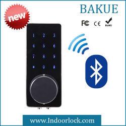 Contraseña de la pantalla táctil sin llave cerradura de puerta de Bluetooth de forma remota en aleación de zinc