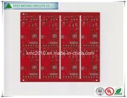 Fr4 de fabricación de PCB rígido con rojo Sodermask (el doble de lados).