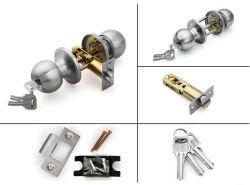 Bille de verrouillage tubulaire de haute sécurité Lit Bain/bouton de porte en acier inoxydable satiné