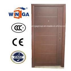 Serbia Popular en el mercado exterior de acero puerta blindada en madera MDF (W-A16).