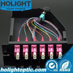MPO vers LC Fibre Om4 Module de cassette pour panneau de brassage optique