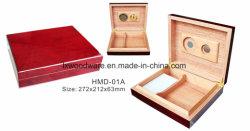 Rosewood Cigar Humidor Madeira de alto brilho do visor de Embalagem Artesanato Caixa de oferta