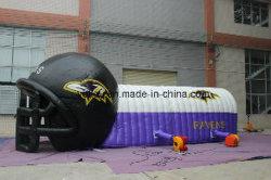 コンボのヘルメットの膨脹可能なフットボールのトンネルの入口のテント