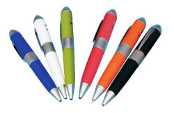 Commerce de gros Custom3 en 1 stylo à bille Pointeur laser Le lecteur Flash USB pour échantillon gratuit