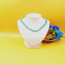 Collier normal de turquoise de mode avec les talons ronds verts