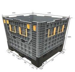 De grote Vouwbare Opvouwbare Plastic Maagdelijke HDPE Container van de Pallet van de Industrie