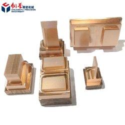 Mecanizado de piezas de latón CNC CNC el bastidor para componentes eléctricos usados