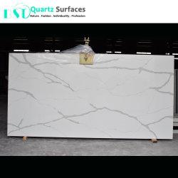 2018 последних мрамора Имитация золота Calacatta кварцевого камня для столешницами