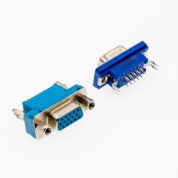 Conector D-SUB de PCB Tipo reta de fileira dupla masculina estampada/pino usinado sem bloquear 9p/15p/25p/37P D-SUB-17