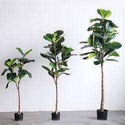 Ficus artificiale Lyrata dei bonsai della pianta della decorazione domestica dell'interno di plastica quasi naturale dell'albero