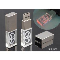 고급 선물 사용자 지정 로고 Crystal USB 플래시 메모리 4GB 8GB 16GB 32GB