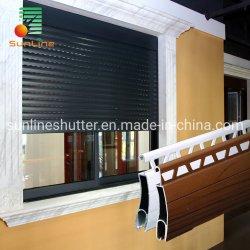 China Elevador eléctrico de vidros de alumínio motorizado automático cilindro obturador de laminagem de furacão com Controle Remoto WiFi