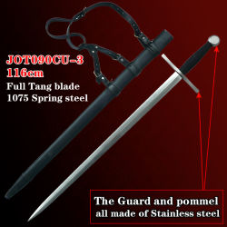 Espadas Medieval com espada artesanais 116cm Jot090Cu-3