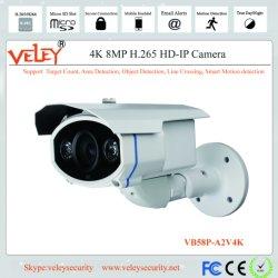 H. 265 Réseau professionnel étanche infrarouge Poe 8MP caméra de vidéosurveillance
