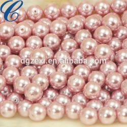 La moitié de gros percé en usine blanc, rose, violet, noir Pearl desserrés