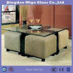 Закаленное стекло стола площади за обеденным столом, уголок для приготовления чая в таблице, рабочий стол