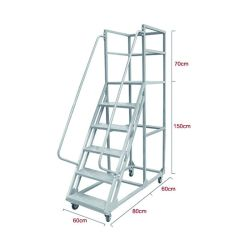 Het duurzame Beweegbare Staal dat van de Hoogte van 1500mm het Karretje van de Ladder van de Stap van het Platform met Wielen vouwt