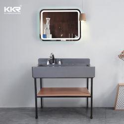 Dispersori di superficie solidi di vanità dei materiali di alta qualità con lo specchio del LED