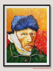 Reprodução Van Gogh pintura a óleo sobre tela, de auto-retrato