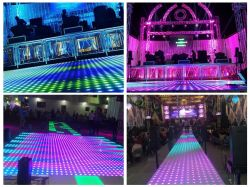 Decorazione per matrimoni in discoteca acrilica da 100 pixel utilizza la danza video LED Sezione pavimento
