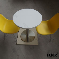 Kingkonree pedra artificial cadeira e mesas de jantar longo