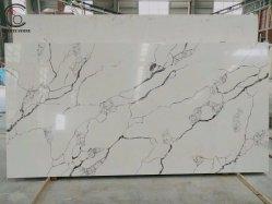 India ronda Calacatta Tableros de mármol Artificial piedra de cuarzo