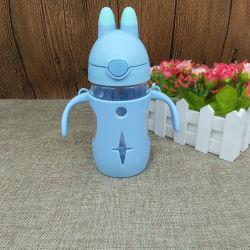 Deckel-Baby-Milch-Glasflasche des neuen Produkt-2020 hohen des Standard-unzerbrechliche pp. mit Silikon-Stroh