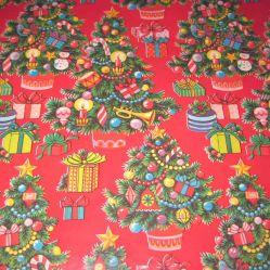 빨간 녹색 크리스마스 선물 포장지