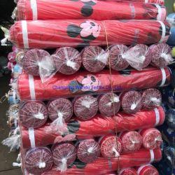 印刷された寝具、漫画の印刷、かわいい子どものようのポリエステルファブリック織物のエクスポート、Changxing Mandoの織物を塗りなさい