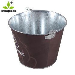 Suzhou Innopack estanho metálico balde de gelo/ferro galvanizado cubos de gelo balde de cerveja com abridor de garrafa