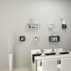Angi Checker с плавающей запятой формы из дерева на стенах полки комплект из 3 окрашены мебель Gz1801
