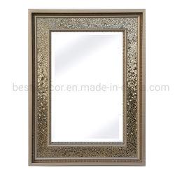 Defina Rectangule mosaicos de vidro emoldurada espelho na parede